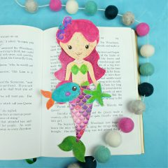 Sparkle Mermaid Bookmark Printable