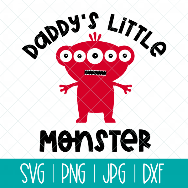 The perfect cut file for creating handmade baby shower gifts for Dads! Make a Daddy's Little Monster onesie or baby shirts using your Cricut or Silhouette. #BabyGift #handmade #Cricut #Silhouette