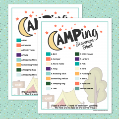 Camping Scavenger Hunt Printable- Free Download