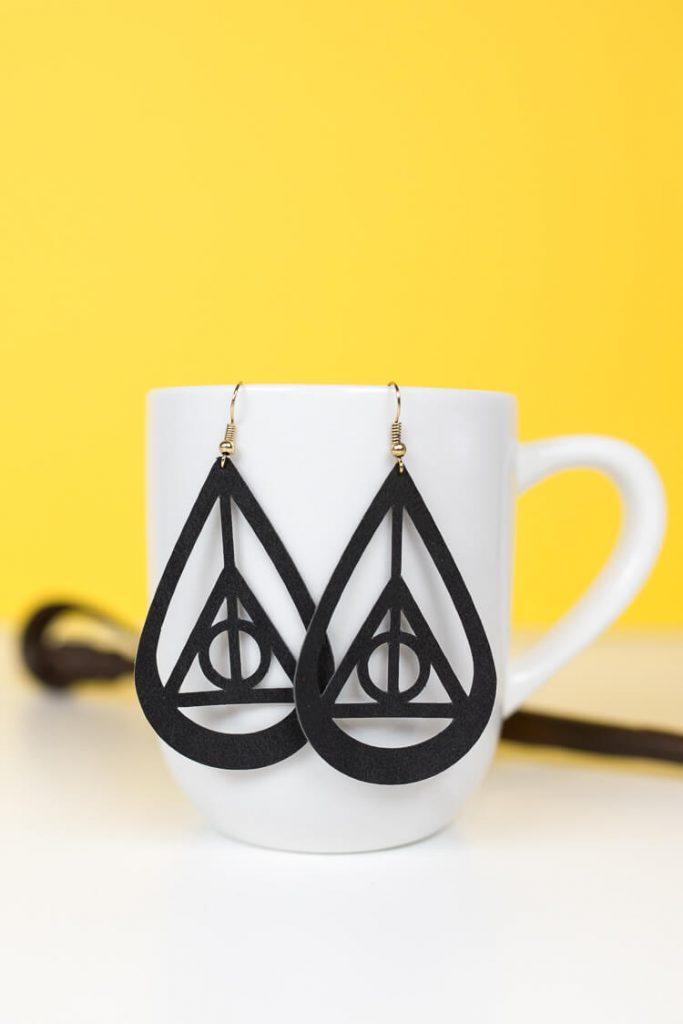 Harry Potter Dealthy Hallows Earrings From Hey Let's Make Stuff