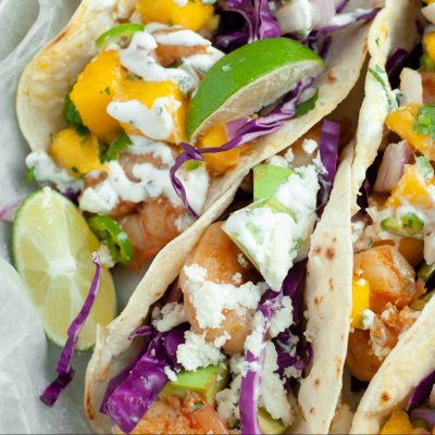 Homemade Shrimp Tacos with Fresh Mango Salsa