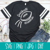 Shout it loud and proud Football Mama! Use this fun cut file with your Cricut or Silhouette for DIY shirts, mugs, bags and more! Perfect for proud football moms to wear on game day! #CricutMaker #CricutMade #CricutCreated #Silhouette #SilhouetteCameo #Football #CutFiles #SVGFiles #FootballCrafts