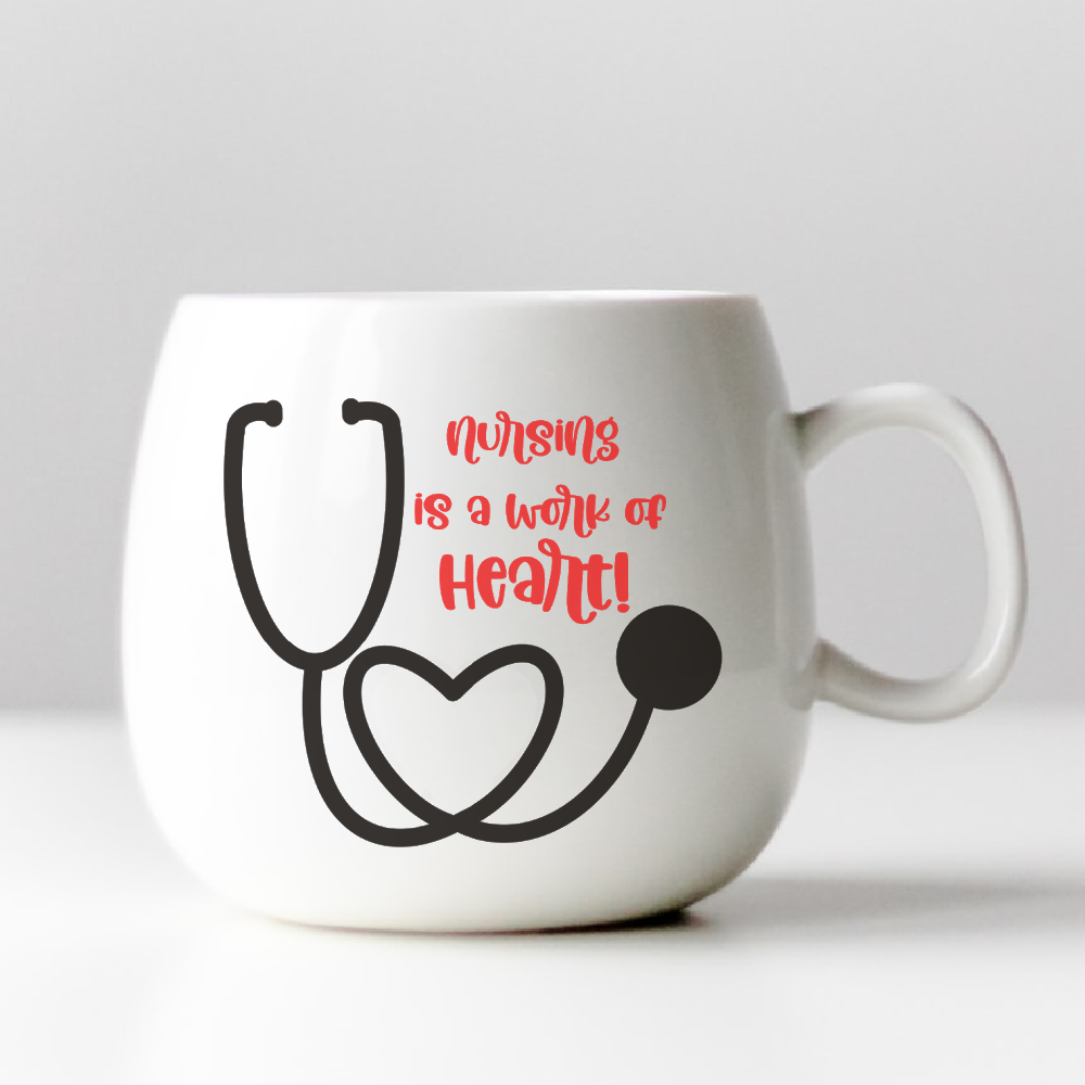 Nursing Is A Work Of Heart Svg Cut File Hello Creative Family