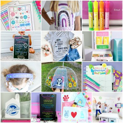 Homeschooling this year? We're sharing 13 homeschool ideas you can make with your Cricut Maker, Cricut Explore or Cricut Joy. Fun and easy personalized projects your kids will love! #BackToSchool #homeschool #Cricut #CricutMade #CricutCreated #CricutCrafts #DIY #Crafts