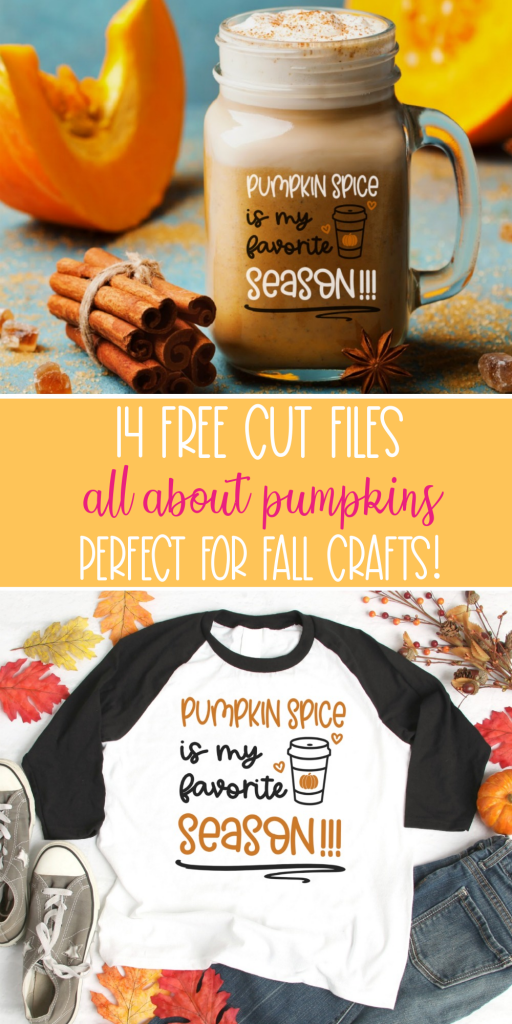 Get started with fall crafting with your Cricut or Silhouette! Here's 14 free pumpkin SVGs that you can use for autumn crafts! From Pumpkin Spice, to Pumpkin Patch decor to Pumpkin Maternity Shirts-- We've got you covered! #Fall #Autumn #Crafts #SVGFiles #CutFiles #Cricut #Silhouette #CricutCreated #CricutMade #handmade #Halloween #PumpkinCrafts #PumpkinSpice