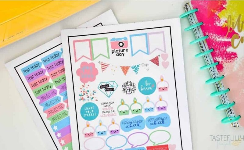 School Planner Stickers Made With The Cricut from Tastefully Frugal