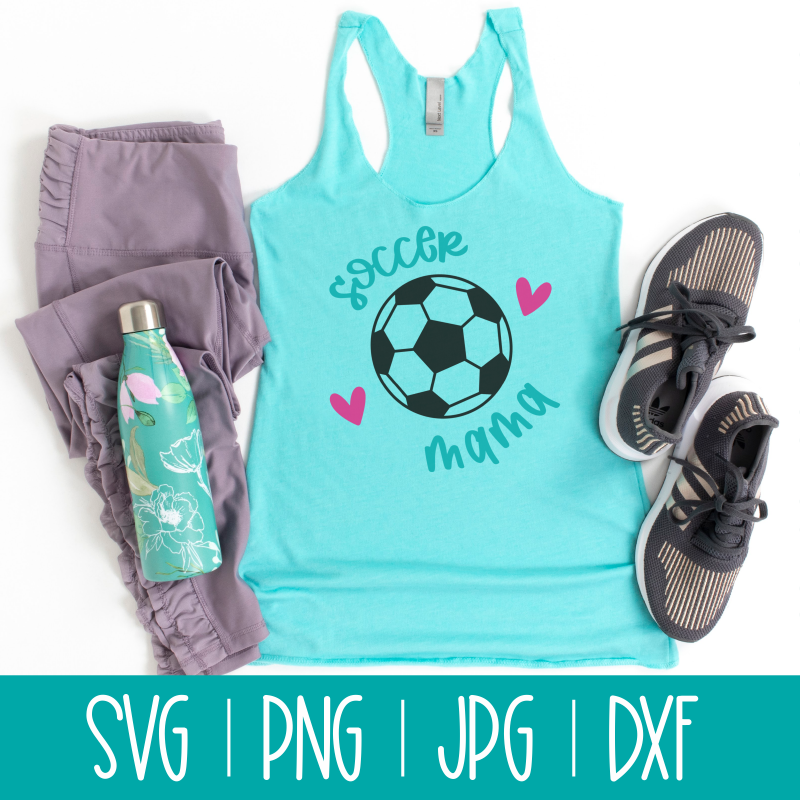 Shout it loud and proud Soccer Mama! Use this fun cut file with your Cricut or Silhouette for DIY shirts, mugs, bags, minivan decals and more! #SVGCutFile #SVG #CutFile #Soccer #SoccerMom #Cricut #Silhouette