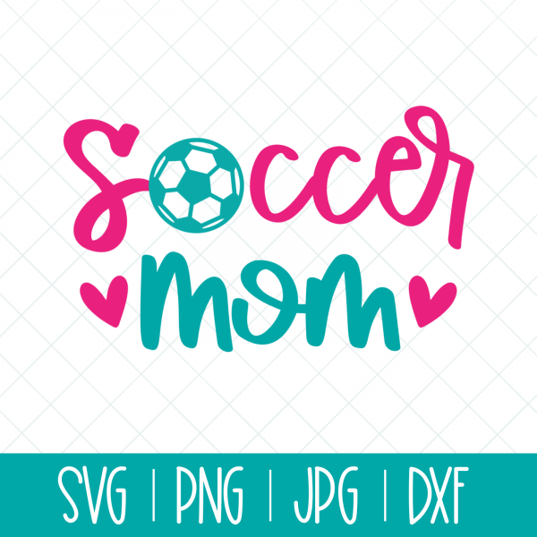 Shout it loud and proud Soccer Mom! Use this fun cut file with your Cricut or Silhouette for DIY shirts, mugs, bags, minivan decals and more! #SVGCutFile #SVG #CutFile #Soccer #SoccerMom #Cricut #Silhouette