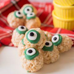 Halloween Rice Crispy Treat Eyeballs Recipe