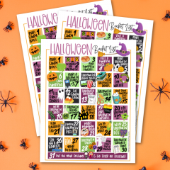 Halloween Activities Calendar Free Printable