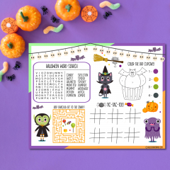 18 Free Halloween Printables Including Halloween Activity Placemat