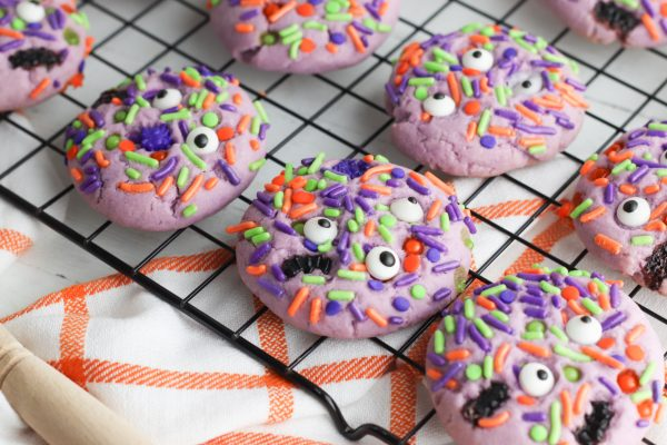 Step by step instructions for making Easy Monster Mash Halloween Sugar Cookie Recipe