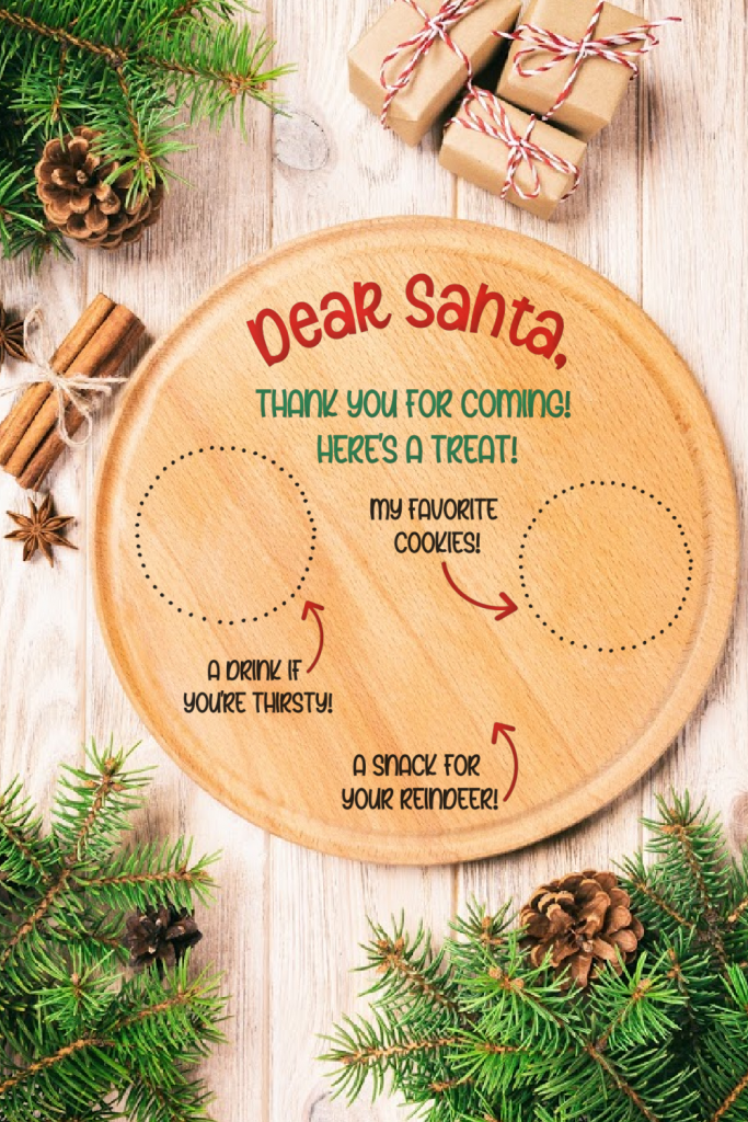 Make a DIY Santa Snack Plate using your Cricut Maker, Cricut Explore Air or Cricut Joy! This adorable project comes with a free SVG cut file along with step by step instructions! This DIY Santa Plate makes a fun and easy handmade Cricut Christmas gift idea! #CricutChristmas #Handmade #CricutMade #CricutCreated #ChristmasGift #ChristmasCraft #Christmas #SantaPlate #Santa #SantaCrafts