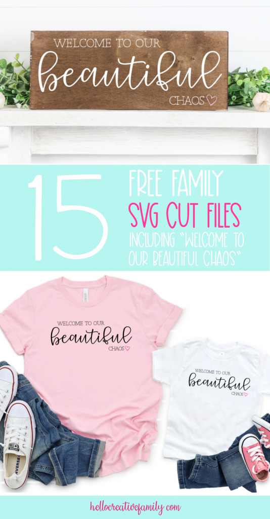 Make beautiful handmade gifts for family with 15 free family themed SVG files from your favorite craft bloggers. Use these cut files with your Cricut Maker, Cricut Explore, Silhouette Cameo or other electronic cutting machines to make beautiful family signs and more. #Crafts #handmadegifts #DIY #FamilySign #Family #SVGFiles #CricutCreated #CricutMade #CutFiles #FreeCutFiles #FreeSVG #farmhousedecor