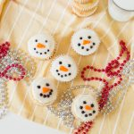 Finished Sparkly Snowman Cupcakes