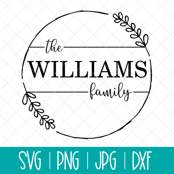 Create beautiful handmade gifts with our customizable Family Name Round Stamp Label SVG. Make cutting boards for housewarming gifts, ornaments for Christmas gifts, coffee mugs for new parents, throw pillows to decorate a couch and so much more with this gorgeous cut file! Use this design files with your Cricut, Silhouette or other electronic cutting machine. #Monogram #stamp #label #CutFile #SVG #SVGFile #Cricut #CricutMaker #CricutExplore #CricutCrafts #ChristmasSVG #HandmadeGift