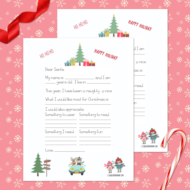 Free Santa Letter Printable Template 19 Holiday Printables