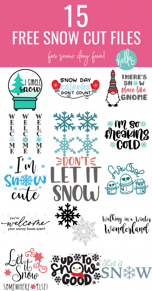 I Smell Snow! Download this free Snow Globe SVG that's perfect for snow days along with 15 other free snow cut files that you can cut with your Cricut, Silhouette or other electronic cutting machine. Perfect for winter crafts! #Snowglobe #SVG #CutFiles #FreeCutFiles #FreeSVG #Snow #WinterCrafts #CricutMade #CricutCreated