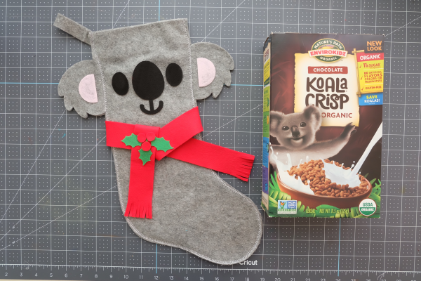 Let your koala scarf dry while you eat Koala Crisp Cereal.