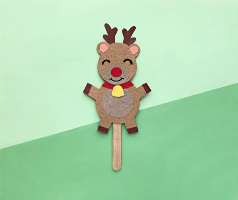 Have a puppet show using this adorable kid's Christmas craft!