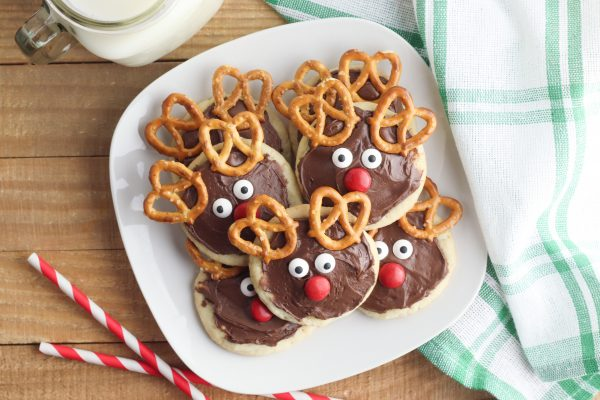 Serve chocolate reindeer cookies and enjoy! Make sure you save some for Santa!