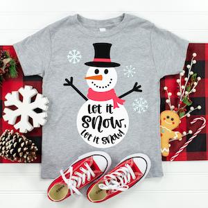 Let It Snow Snowman SVG Cut File