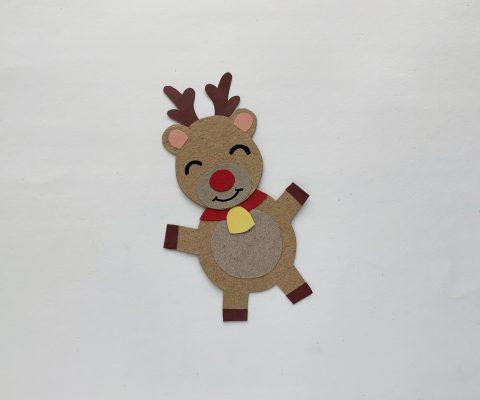 Stick the reindeer's head onto it's body.