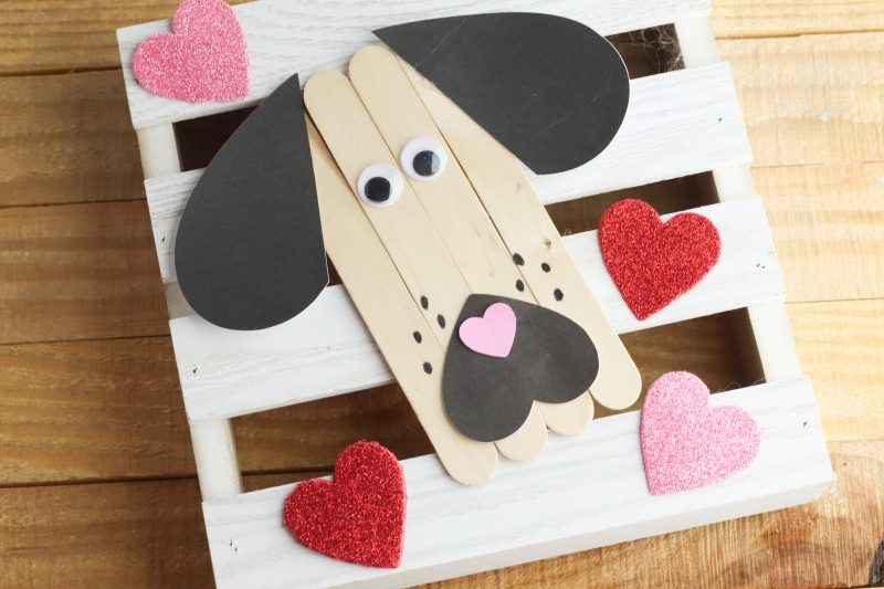 There you have it! An adorable dog popsicle stick craft!