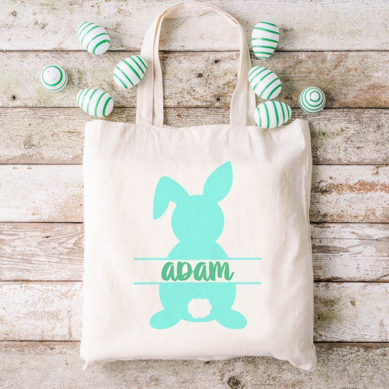 Adorable DIY Easter Basket Tote Bag using HTV.