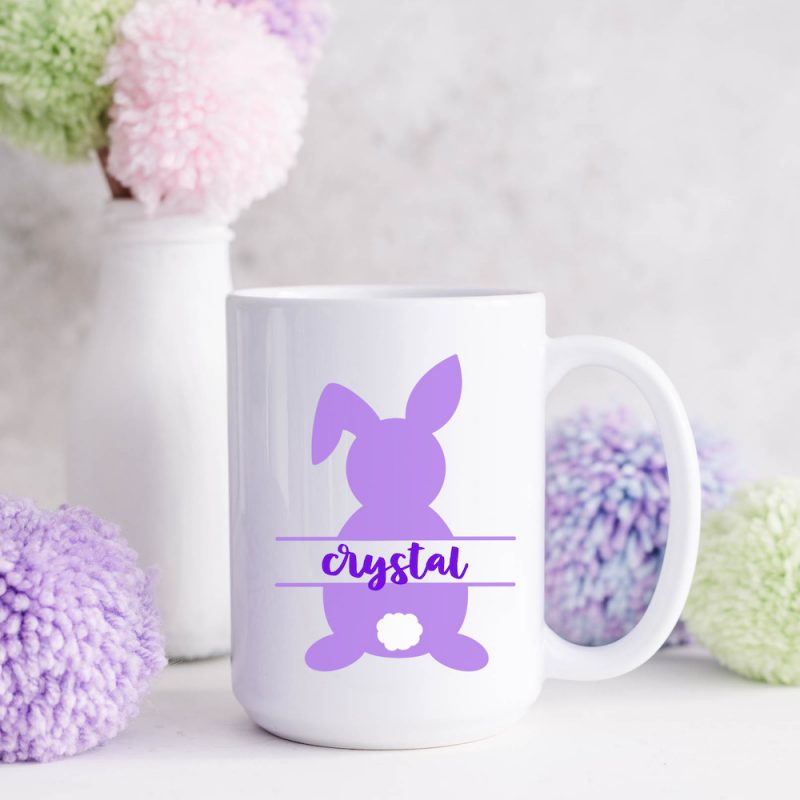 Adorable DIY Easter Mug Using Vinyl