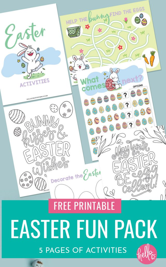 Free Kids Easter Printable- 5 Pages Of Easter Activities