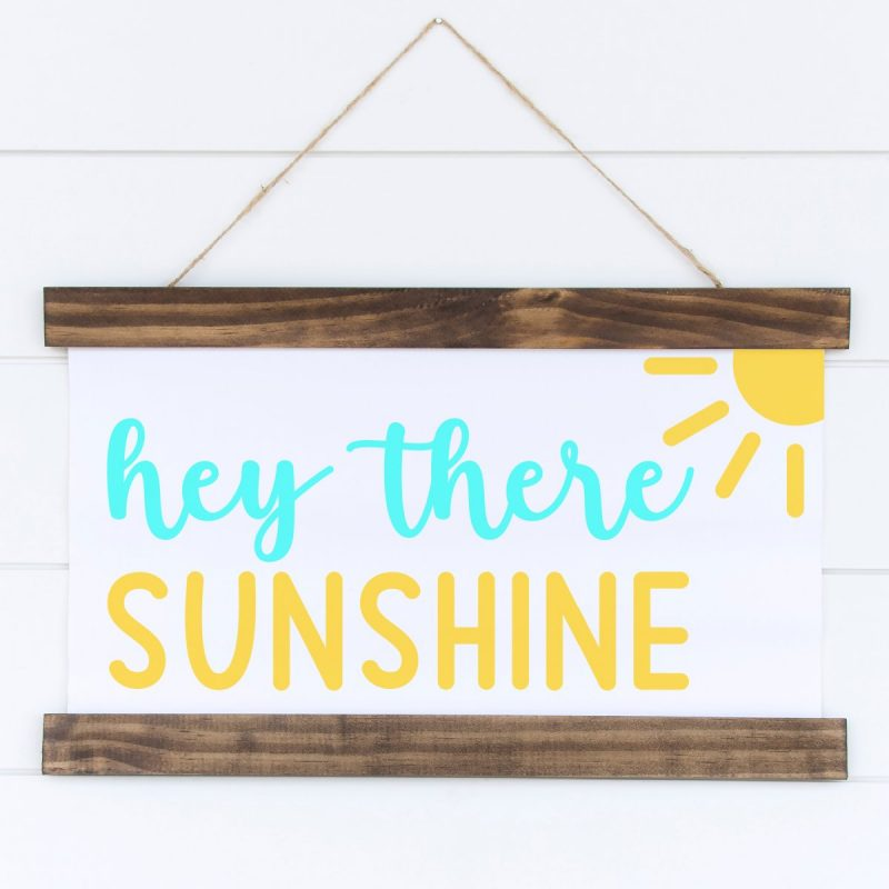 Hey There Sunshine Cut File from Cutting Machine Crafting