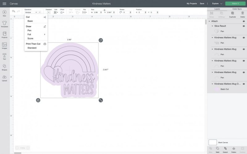 How to attach an image in Cricut Design Space.