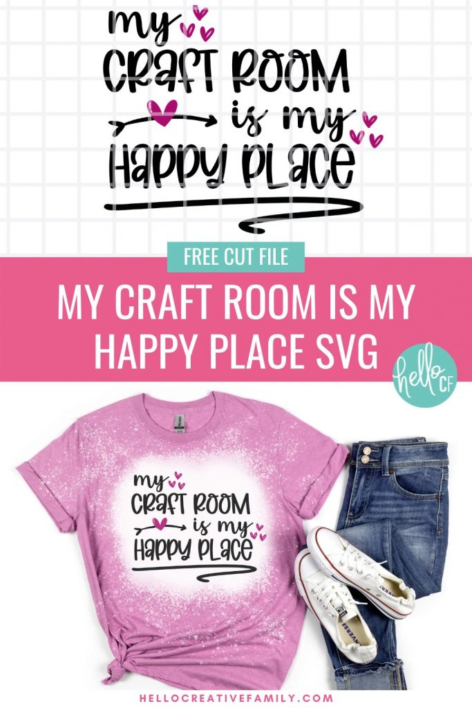 In this Free Cricut Design Space 101 Lesson, you'll learn everything you need to know to use Cricut Design Space like a pro. Written by bestselling Cricut craft book author and Cricut craft blogger, Crystal Allen from Hello Creative Family. Every button and tool in Design Space is covered with photos and examples of how to use it. Also includes a free My Craft Room Is My Happy Place SVG file. Perfect for new owners of the Cricut Maker, Cricut Explore Air 2, and Cricut Joy.