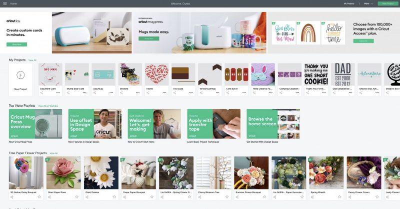 Cricut Design Space Screen