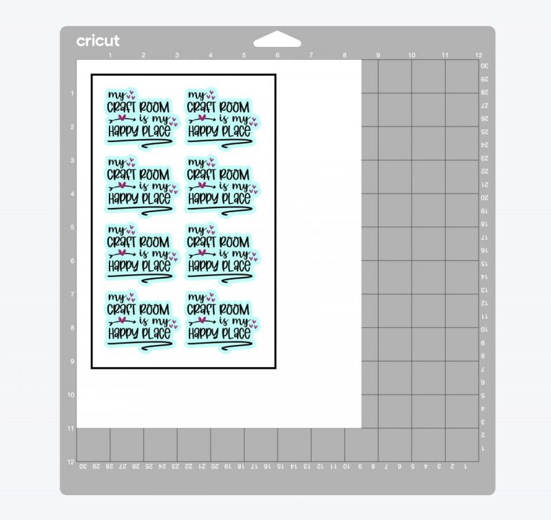 Cricut Design Space 101: Using flatten button to make stickers