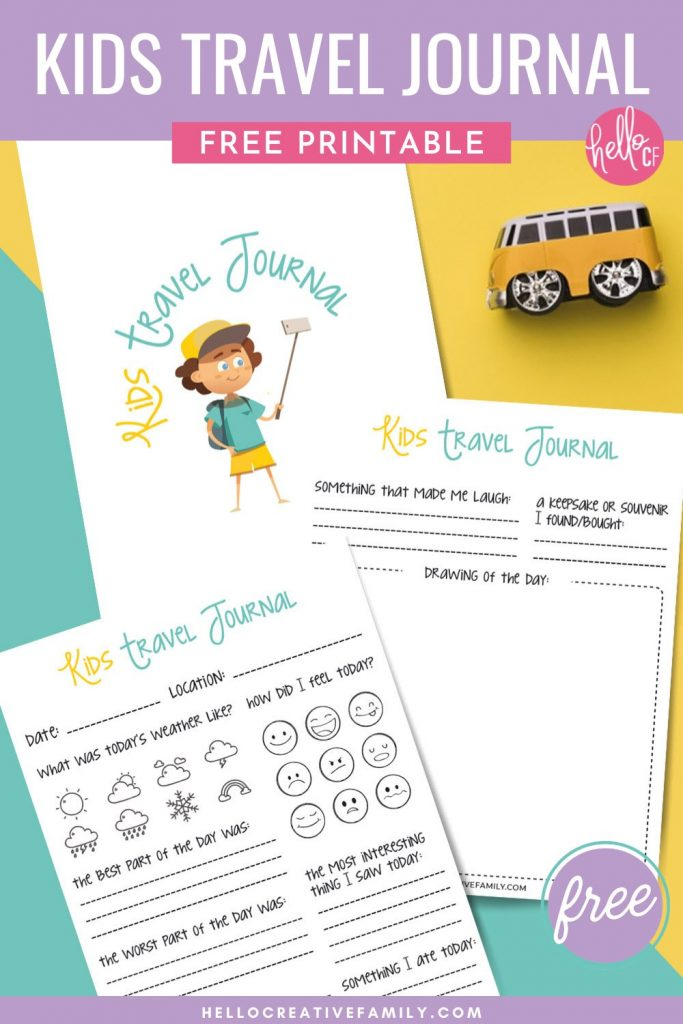 Whether you are planning a family road trip across the USA, a vacation to a foreign country or a staycation in your own state or province you are going to love this free kids travel journal printable! Help your kids chronicle family vacations and create memories that will last forever with this fun and easy to fill out kids travel diary!
