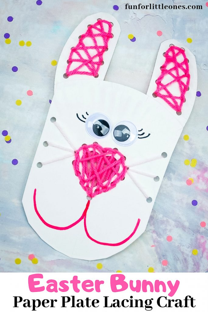 Bunny Paper Plate Lacing Craft