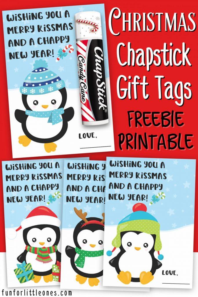 Chapstick Gift Tags Printable