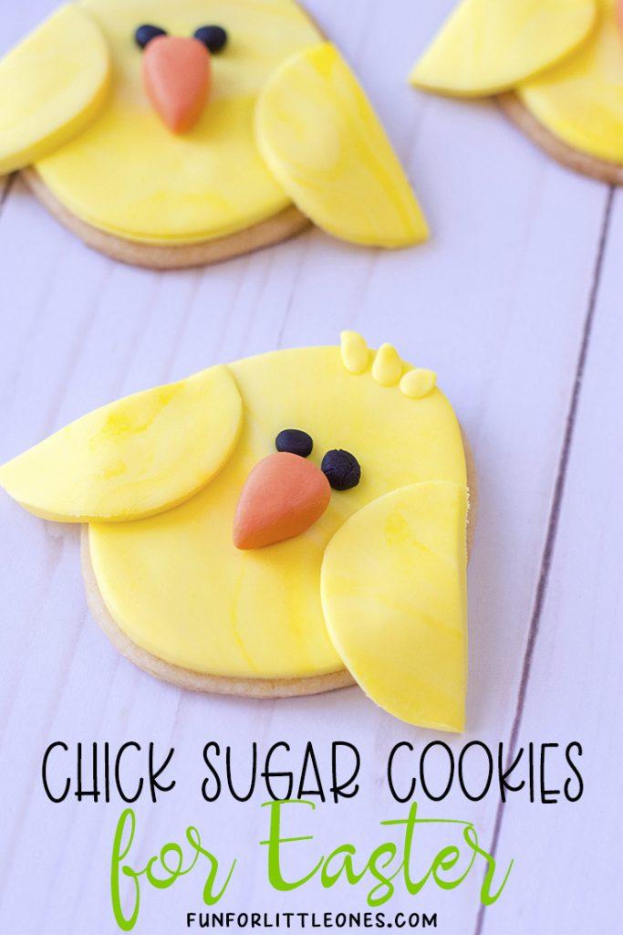 Easter Chick Sugar Cookies