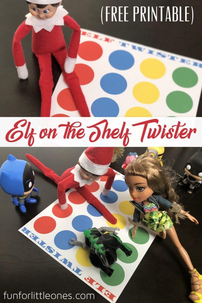 Elf on the Shelf Twister Printable