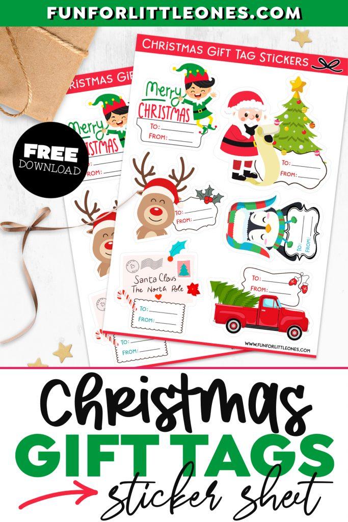 Christmas Gift Tag Stickers Printable