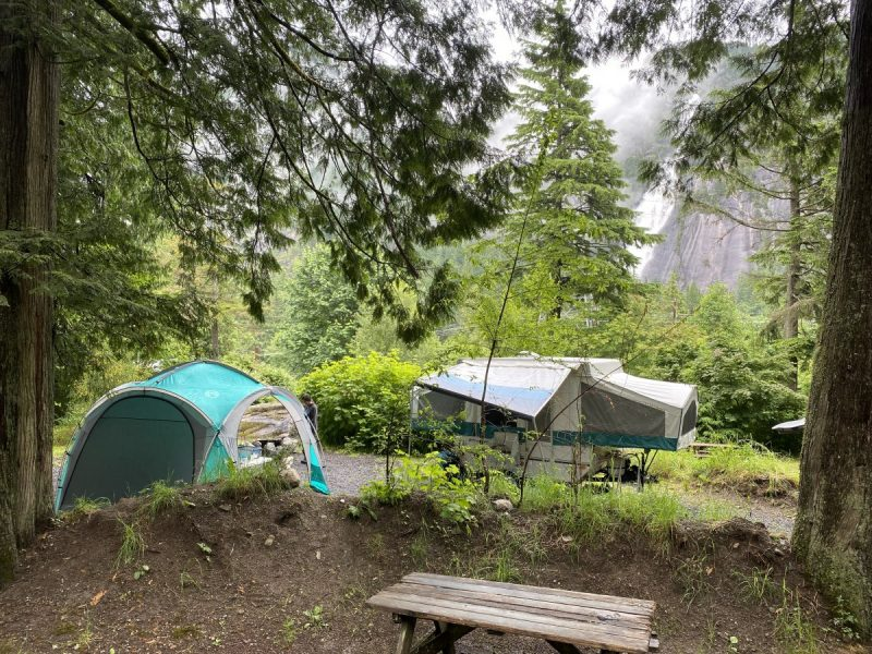Klahanie Campground with Rockwood  Freedom Tent Trailer