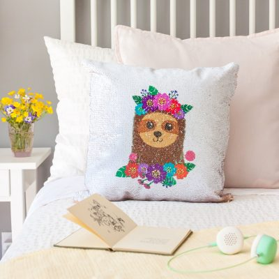 Once cool, remove the sublimation paper and heat resistant tape, revealing your design beneath. Put a pillow insert inside your pillowcase and enjoy!