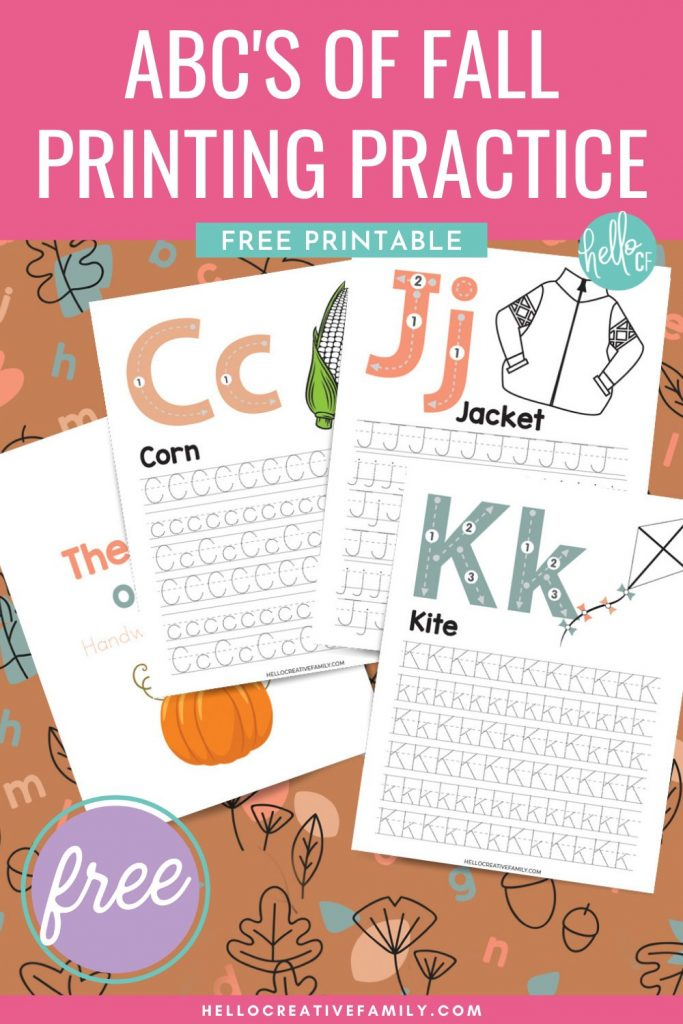 Make learning to write fun with our free alphabet printing practice sheets! This free printable is a simple and easy way for elementary school aged children to learn their alphabet and practice their penmanship. Filled with cute images to celebrate autumn that kids can color in. Learning your ABCs has never been so fun. With both uppercase and lowercase letters you can laminate these free worksheets to use again and again.