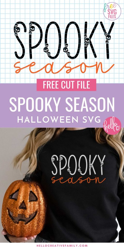 Get ready for spooky season with this minimalist free Halloween SVG file! Make tons of Halloween projects including minimalist sweatshirts with your Cricut or Silhouette machine!Use thiscut file for t-shirts, wood signs, paper crafting, planner stickers, Halloween decorations, and so much more!