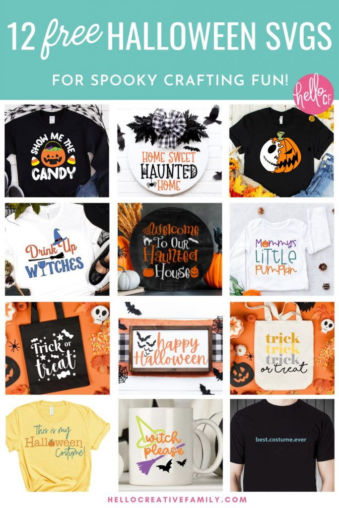Collage of 12 Free Halloween SVGs