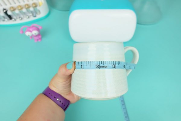 Measure your canisters, mugs and cups to determine the size you would like each of the designs to cut.