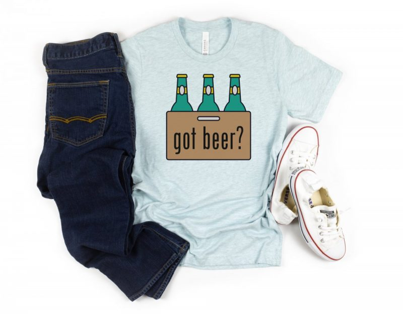DIY Got Beer Shirt made with the Cricut. Free SVG file.