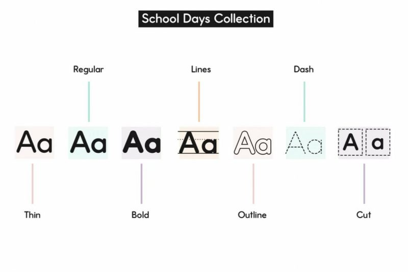 School Collection Font Bundle from KA Designs